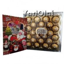 Chritmas Card & 24 Ferrerro Rocher