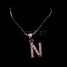 Letter 'N' Pendant With Chain