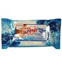 Flora Hygienic Wet Wipes 10S