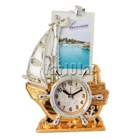 Ship Style Photo Frame with Clock