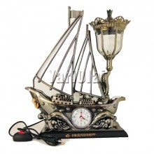 Ship Table Lamp with Clock 2