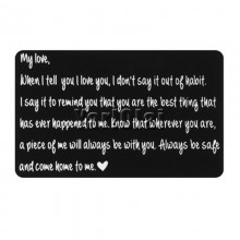 Wallet note card - My Love